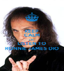 KEEP CALM AND LISTEN TO RONNIE JAMES DIO - Personalised Poster A4 size
