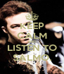 KEEP CALM AND LISTEN TO SALMO. - Personalised Poster A4 size