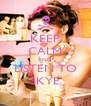 KEEP CALM AND LISTEN TO SKYE - Personalised Poster A4 size