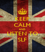 KEEP CALM AND LISTEN TO SLF - Personalised Poster A4 size
