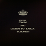 KEEP CALM AND LISTEN TO TARJA TURUNEN - Personalised Poster A4 size