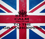 KEEP  CALM  AND LISTEN  TO THE GRASSHOPPERS - Personalised Poster A4 size