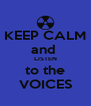 KEEP CALM and  LISTEN to the VOICES - Personalised Poster A4 size