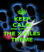KEEP CALM AND LISTEN TO THE X-FILES THEME - Personalised Poster A4 size