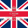 KEEP  CALM AND LISTEN TO  WAAFIQA JAPPIE - Personalised Poster A4 size