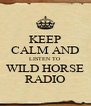 KEEP CALM AND LISTEN TO WILD HORSE RADIO - Personalised Poster A4 size