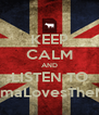 KEEP CALM AND LISTEN TO YourMamaLovesTheMilkman - Personalised Poster A4 size