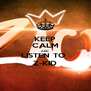 KEEP CALM AND LISTEN TO  Z-KID - Personalised Poster A4 size