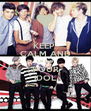 KEEP  CALM AND LISTEN YOUR IDOL - Personalised Poster A4 size