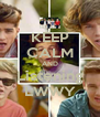 KEEP CALM AND Listening LWWY - Personalised Poster A4 size