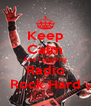 Keep Calm And Listening Radio Rock Hard - Personalised Poster A4 size