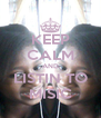 KEEP CALM AND LISTIN TO MISIC - Personalised Poster A4 size