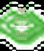 Keep CALM AND little Arii - Personalised Poster A4 size