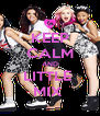 KEEP CALM AND LITTLE  MIX  - Personalised Poster A4 size