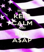 KEEP CALM AND Live A$AP - Personalised Poster A4 size
