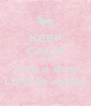 KEEP CALM And Live a dog LIFE (it rocks) - Personalised Poster A4 size