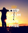 KEEP CALM AND LIVE FREE - Personalised Poster A4 size