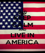 KEEP CALM AND LIVE IN AMERICA - Personalised Poster A4 size