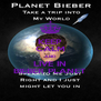 KEEP CALM AND LIVE IN BIEBER PLANET - Personalised Poster A4 size
