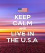 KEEP CALM AND LIVE IN THE U.S.A - Personalised Poster A4 size