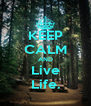 KEEP CALM AND Live Life. - Personalised Poster A4 size