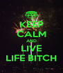 KEEP CALM AND LIVE LIFE BITCH - Personalised Poster A4 size