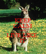KEEP CALM AND LIVE LIKE  IT - Personalised Poster A4 size