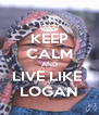 KEEP CALM AND LIVE LIKE  LOGAN - Personalised Poster A4 size