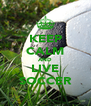 KEEP CALM AND LIVE SOCCER - Personalised Poster A4 size