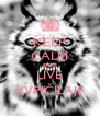 KEEP CALM AND LIVE #VPIČILAJF - Personalised Poster A4 size