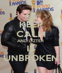 KEEP CALM AND LIZTER IS UNBROKEN - Personalised Poster A4 size
