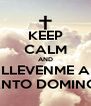 KEEP CALM AND LLEVENME A SANTO DOMINGO - Personalised Poster A4 size