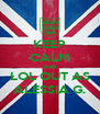 KEEP CALM AND LOL OUT AS ALESSIA G. - Personalised Poster A4 size