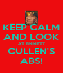 KEEP CALM AND LOOK AT EMMETT CULLEN'S ABS! - Personalised Poster A4 size