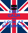 KEEP CALM AND LOOK AT ENDERMAN - Personalised Poster A4 size