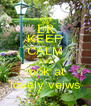 KEEP CALM AND look at lovely veiws - Personalised Poster A4 size