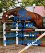 KEEP CALM AND LOOK AT  MY HORSE - Personalised Poster A4 size