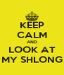 KEEP CALM AND LOOK AT MY SHLONG - Personalised Poster A4 size