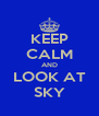 KEEP CALM AND LOOK AT SKY - Personalised Poster A4 size