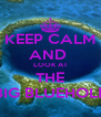 KEEP CALM AND  LOOK AT THE BIG BLUEHOLE - Personalised Poster A4 size