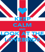 KEEP CALM AND LOOK AT THE LOVEBIRDS - Personalised Poster A4 size