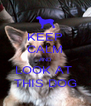 KEEP CALM AND LOOK AT  THIS DOG - Personalised Poster A4 size