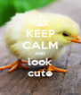 KEEP CALM AND look cute - Personalised Poster A4 size