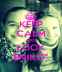 """KEEP CALM AND LOOK ENIKO"""" - Personalised Poster A4 size"""