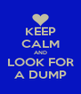 KEEP CALM AND LOOK FOR A DUMP - Personalised Poster A4 size