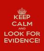 KEEP CALM AND LOOK FOR EVIDENCE! - Personalised Poster A4 size