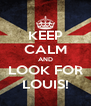 KEEP CALM AND LOOK FOR LOUIS! - Personalised Poster A4 size
