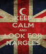 KEEP CALM AND LOOK FOR NARGLES - Personalised Poster A4 size