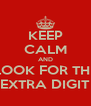 KEEP CALM AND LOOK FOR THE EXTRA DIGIT - Personalised Poster A4 size