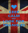 KEEP CALM AND LOOK FOR  TRIANGLES - Personalised Poster A4 size
